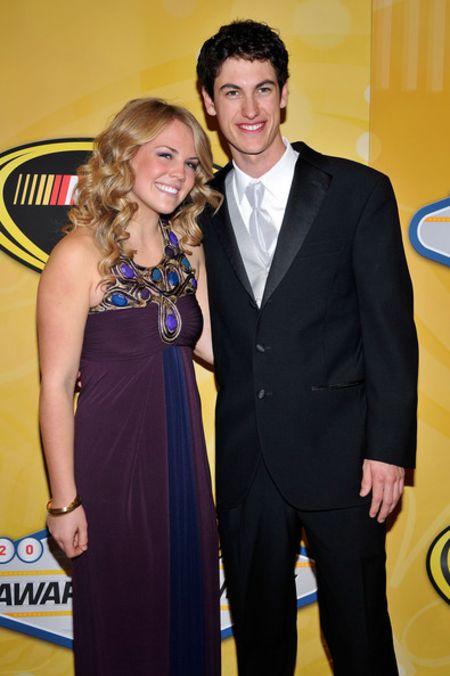 Sabrina Simpson with ex-boyfriend Joey Logano