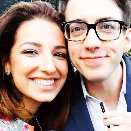 Vanessa Lengies with Kevin McHale