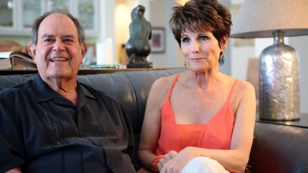 Laurence Luckinbill with his wife Lucie Arnaz