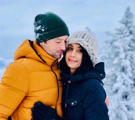 Carlo Marks with his Girlfriend Shivani Ruparelia