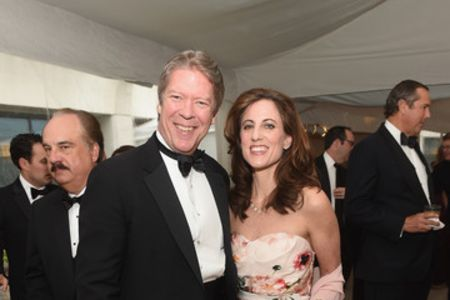 Major Garrett with his wife Lara Brown