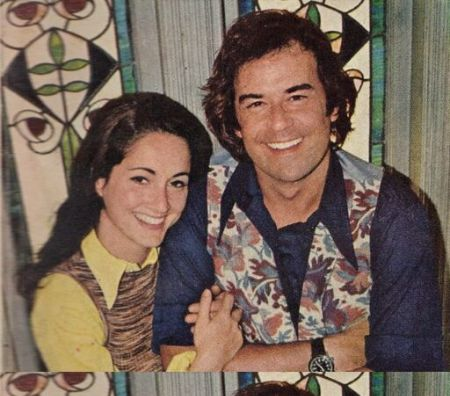 Actor Laurence with first wife Robin Strasser