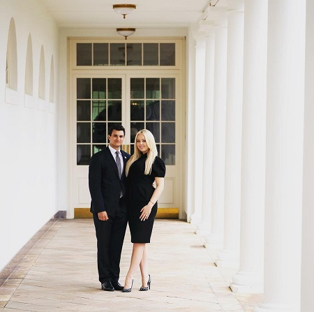 Michael Boulos and Tiffany Trump on the day they announced their engagement