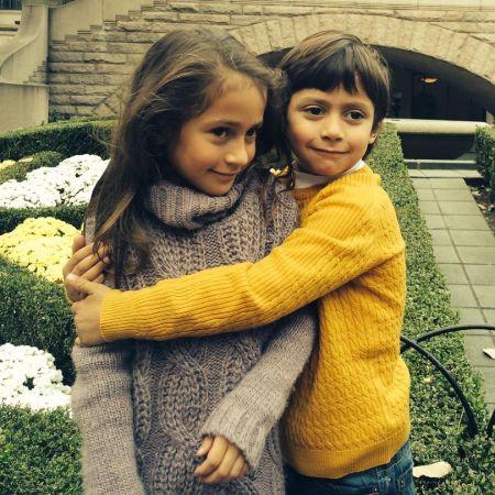 Emme Maribel Muñiz with her Twin brother