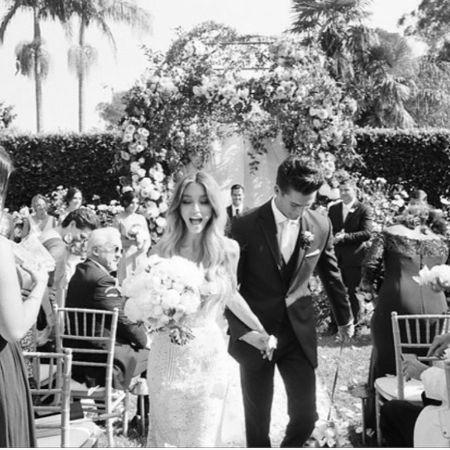 Haley Giraldo and her husband Matt Williams at their wedding