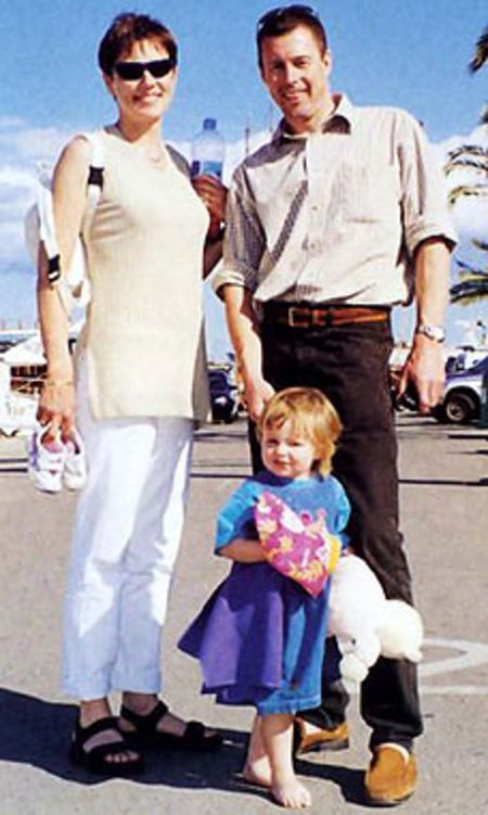 Colin McRae with her wife Alison McRae and their daughter