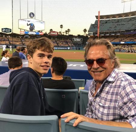 Jasper Breckenridge Johnson with his dad Don Johnson.