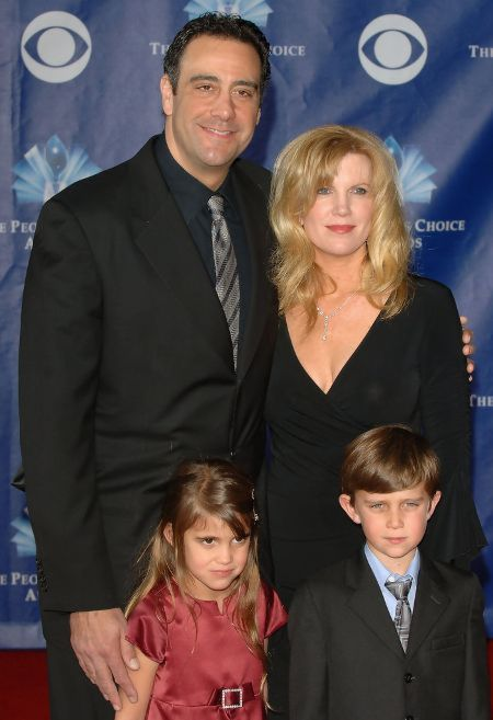 Jill Diven with her ex-husband Brad Garrett and their children at the Emmy's.