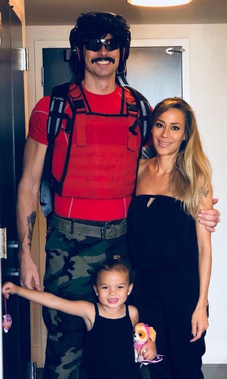 Dr. Disrespect with baby and Mrs. Assassin