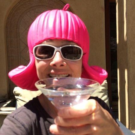 Meredith Vieira enjoying her drink