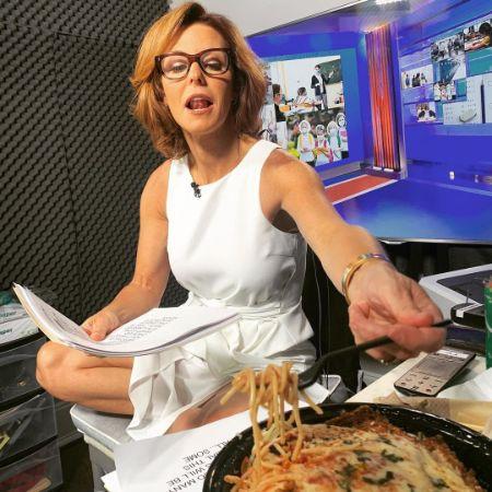 Stephanie Ruhle enjoying her lunch