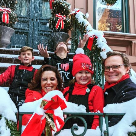 Stephanie Ruhle with her family in Christmas