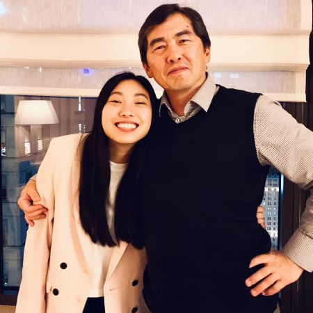 Awkwafina with her father Wally