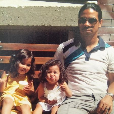 Tess Romero with her father and her sister