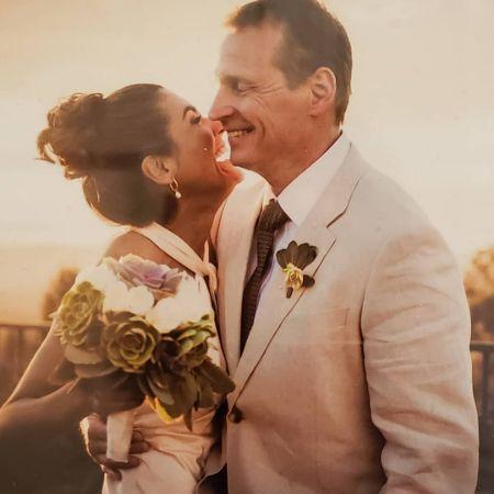 Vera Jimenez with her husband, Brian Herlihy.