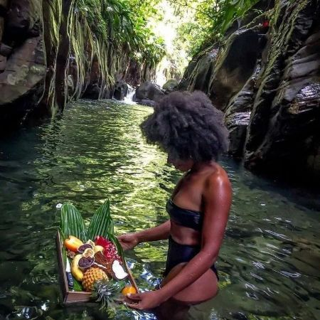 Simona Brown during her luxurious vacation