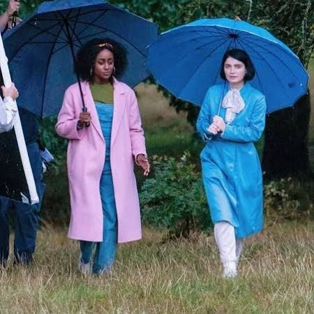 Simona Brown with Eve Hewson during the shoot
