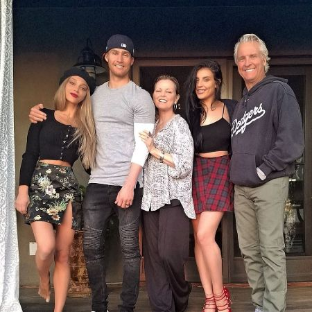 Haley with her parents, sister, and husband