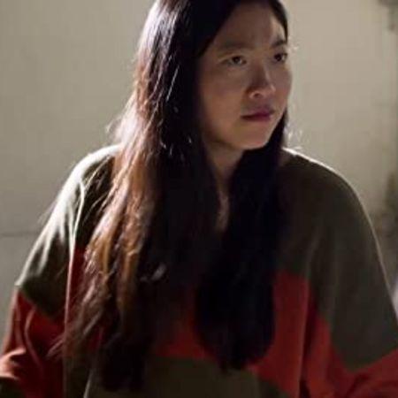 Lori Tan Chinn in a movie shoot