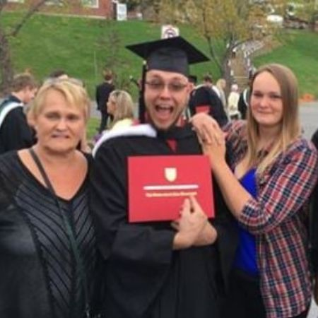 Bianca Beets with her mother at her brother's graduation